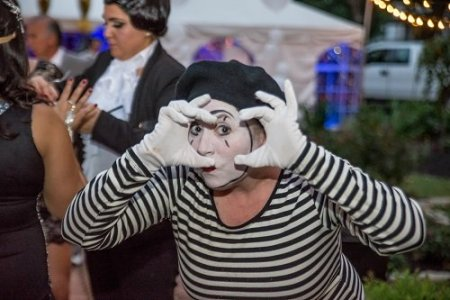 Mime at a party
