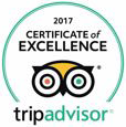 2017 Certificate of Excellence, TripAdvisor