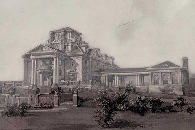 Conceptual drawing of Burklyn Hall