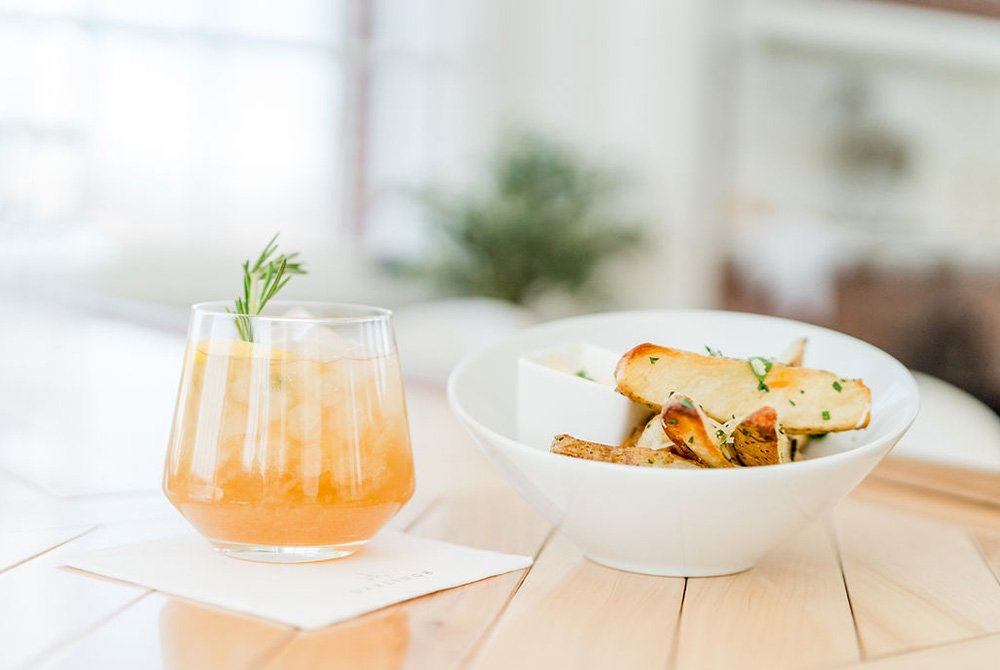 summer cocktails served with fries