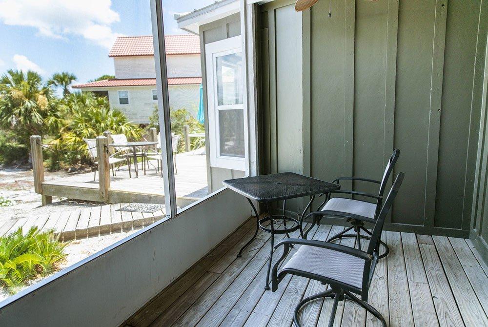 Enclosed porch off bedroom