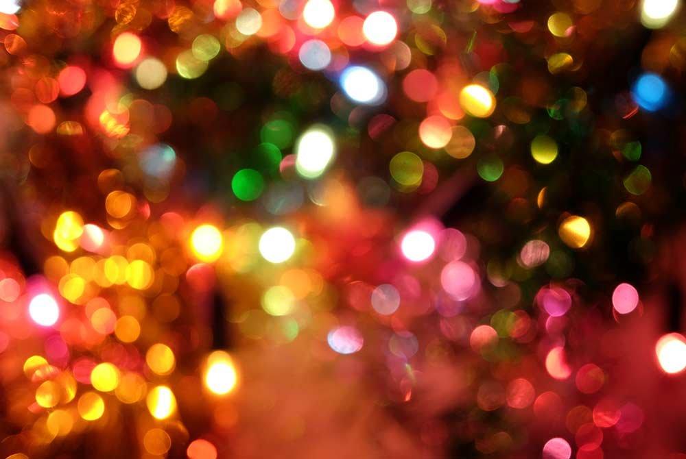Festive lights glowing