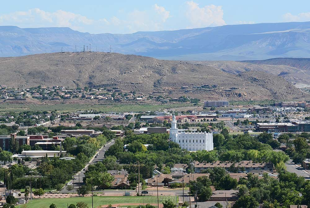 LDS temple in downtown St. George, Utah