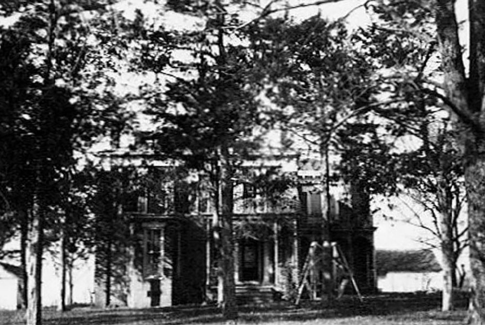Old black and white photo of the Inn