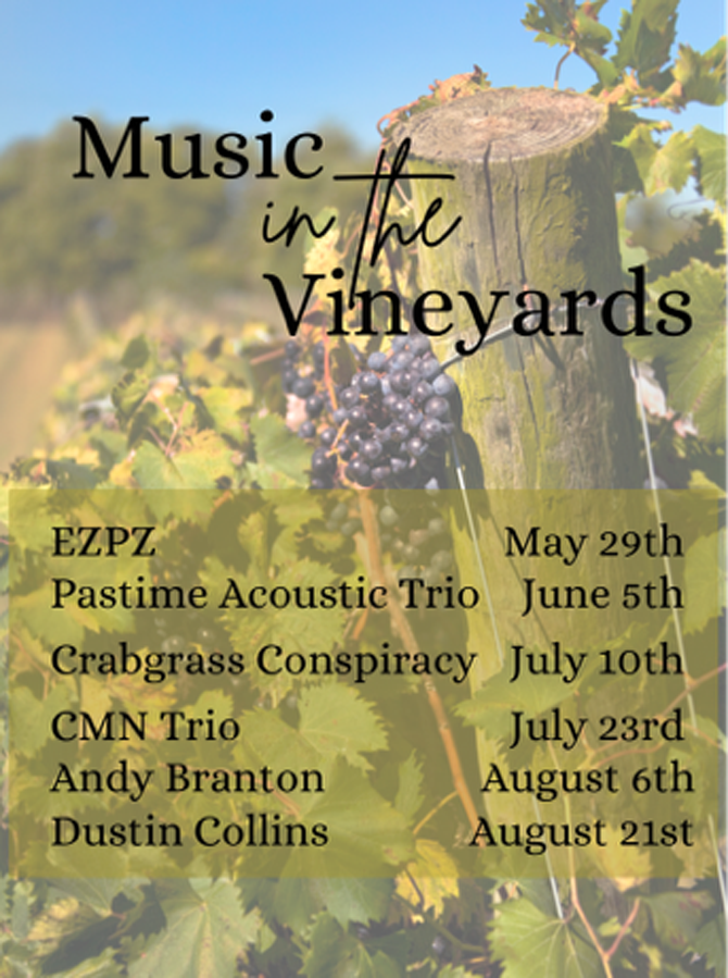 Music in the vineyards flyer