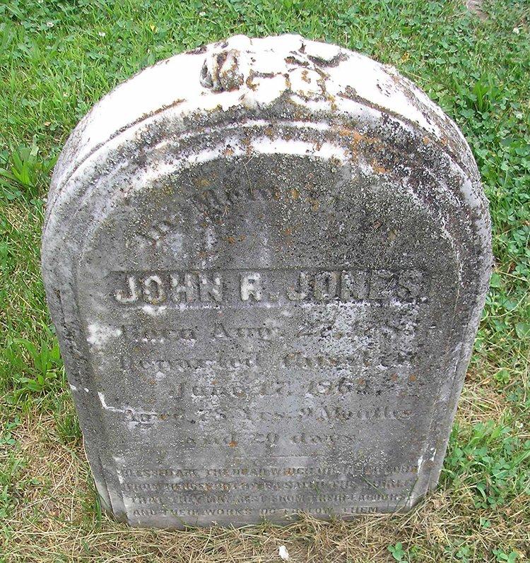 John R. Jones Gravestone