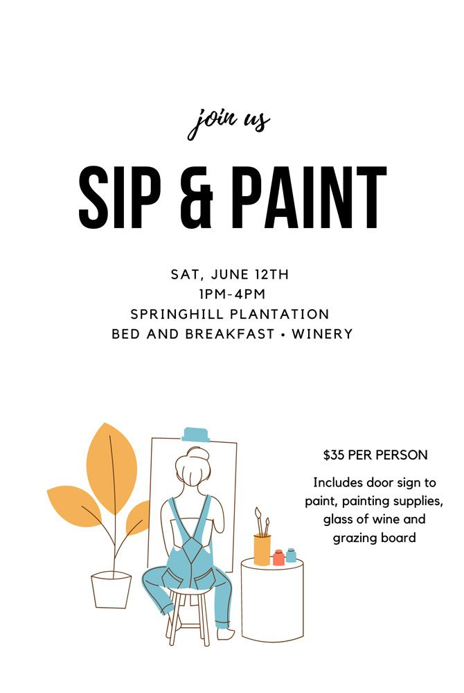 Sip And Paint Flyer