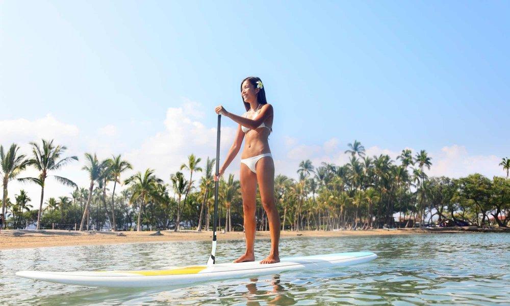 Woman on paddleboard