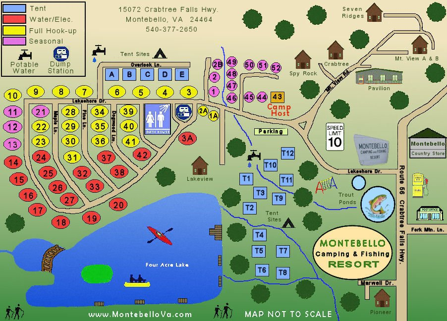 map of montebello campground