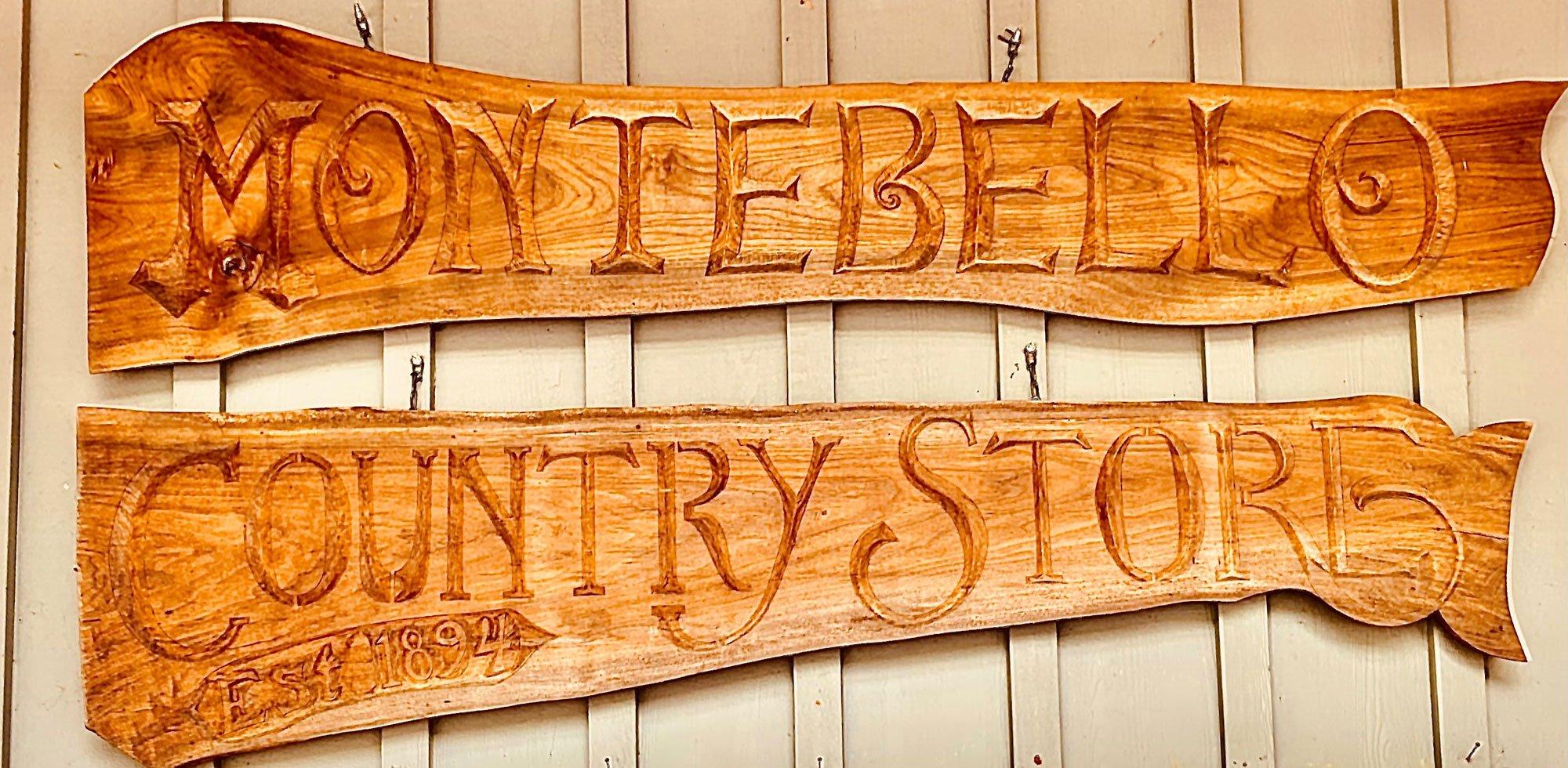 Montebello's Stre front sign