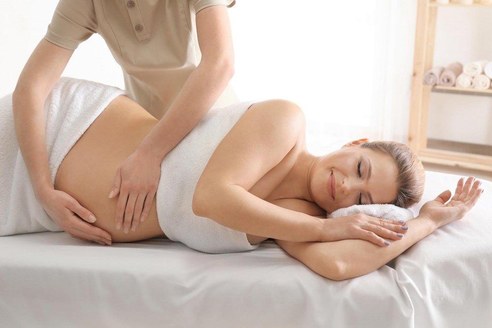 pregnant woman getting massage