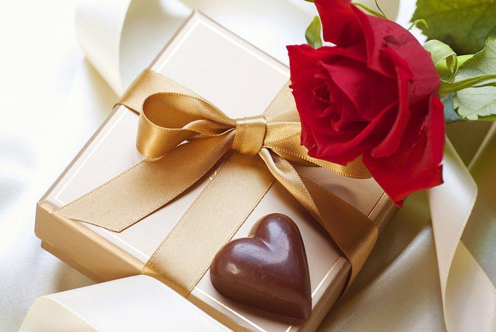 Rose and box of chocolates