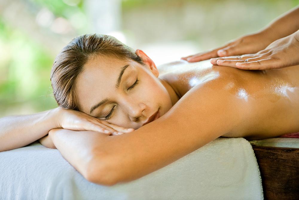 Woman recieving a massage