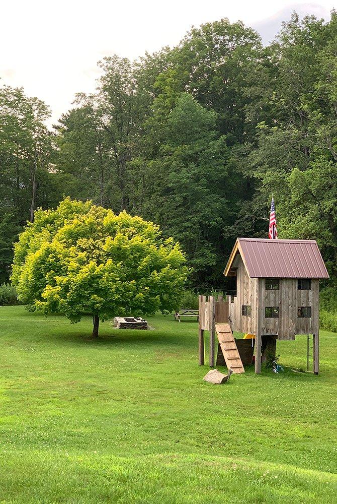 playhouse in yard