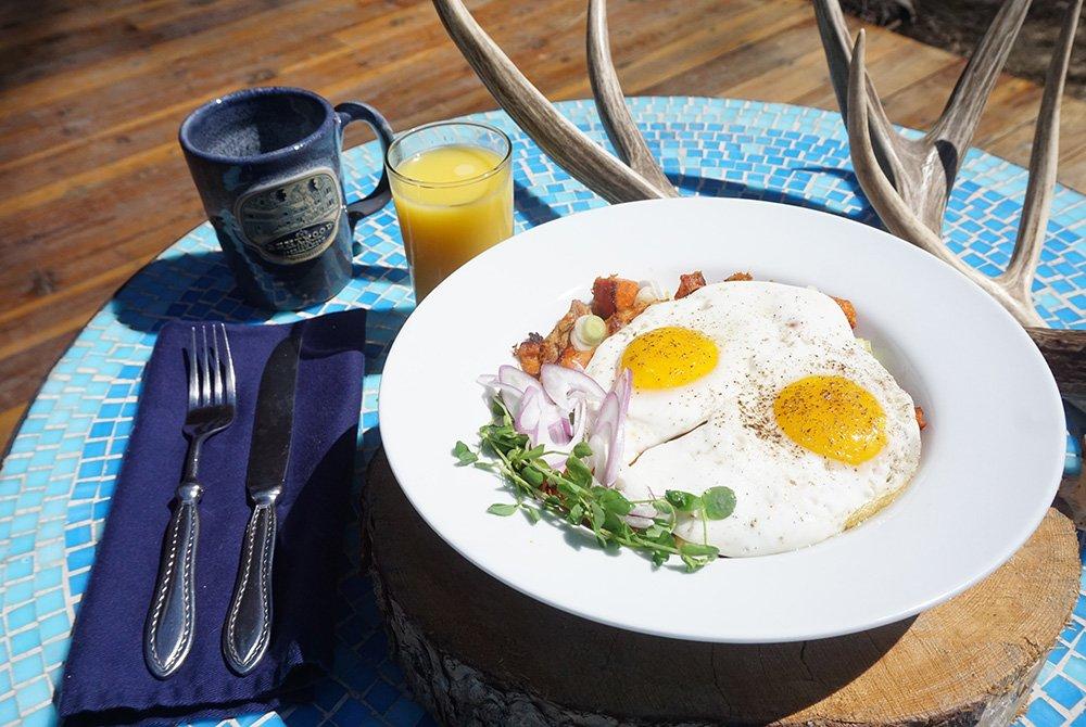 View of egg breakfast
