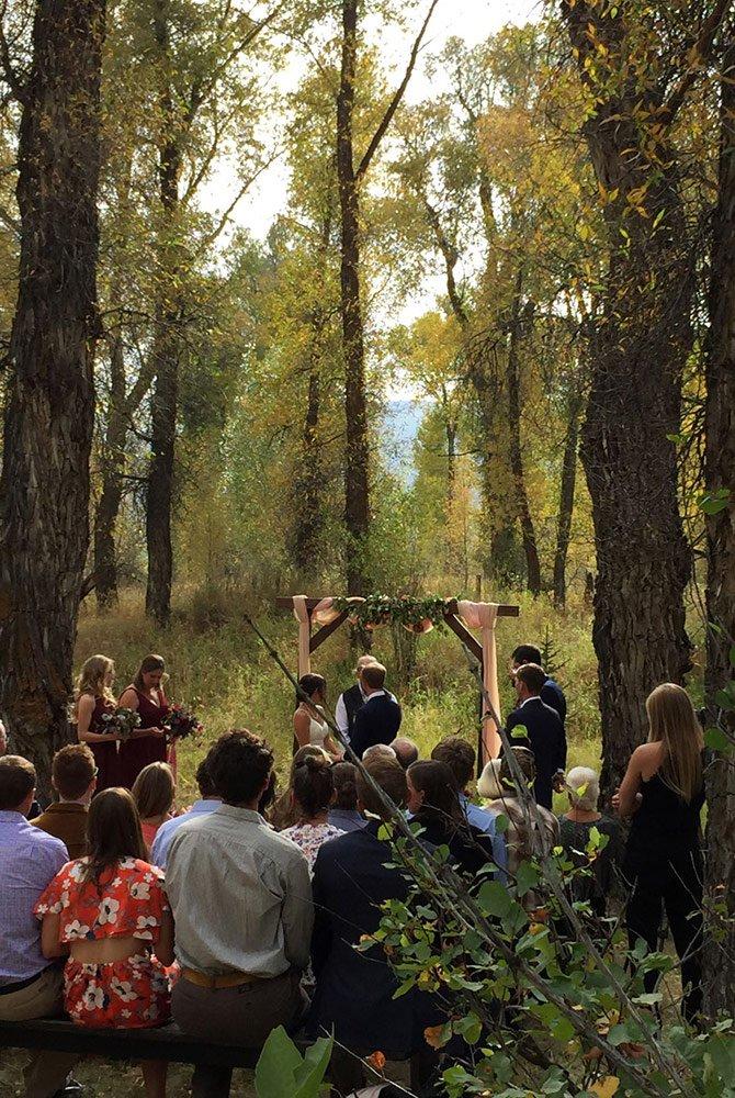 Outdoor wendding cerimony