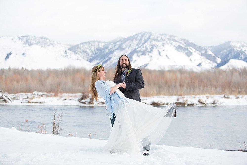 Wedding couple posing