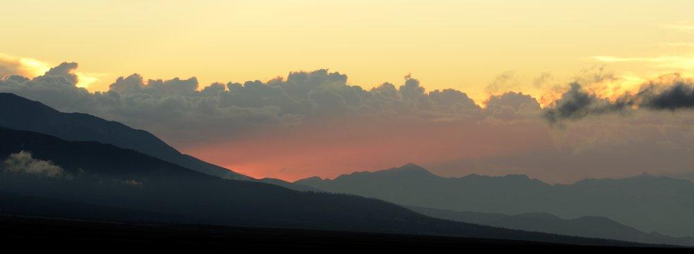 Sunset over Westcliffe