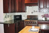 Lumber Baron Condo kitchen at Thorwood Rentals and Retreats in Hastings Minnesota