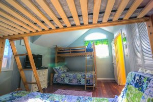 Bunk bed across from second bunk bed