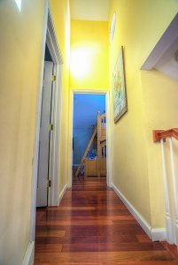Hallway leading to bedrooms