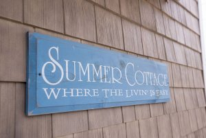 Summer Cottage sign on outside of building