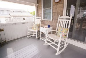 Rocking chairs on outside porch