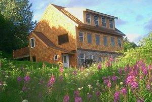 Field of flowers infront of Bear's Den Cabin