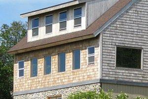 Windows on outside of Bear's Den