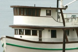 Cabins with windows on Double Eagle boat