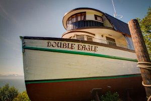 Double Eagle boat on land