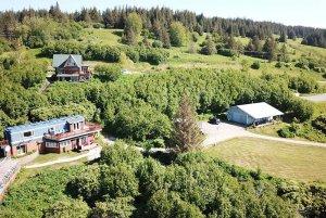 Alaska Adventure Cabins hillside