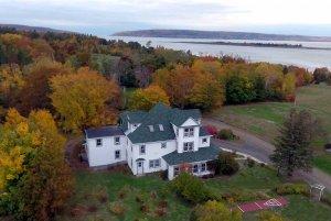 Drone shot of Harbourview Inn