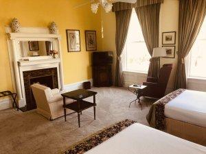 Yellow room seating
