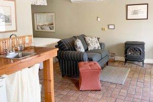 Family room area near kitchenette
