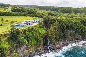 Rocky coast and estate