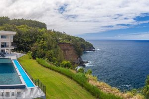 Pool and costal view