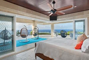 Bedroom with view of the ocean
