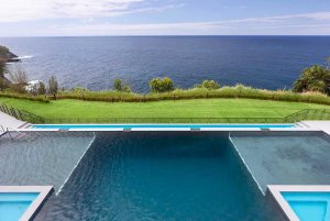 Pool with view of the ocean
