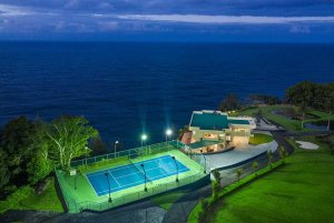 Tennis court and Waterfalling Estate