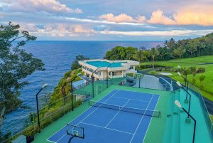 Tennis court and estate
