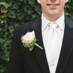 groom with boutonniere