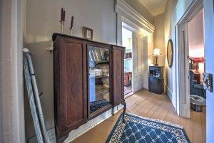 Hallway between two rooms