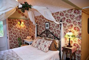 Queen bed with canopy