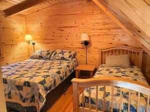 Two beds in loft bedroom