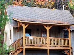 outside view of spy rock cabin