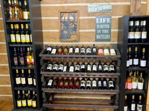 wine rack store display