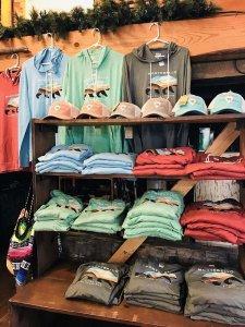 t-shirt souvenirs on display