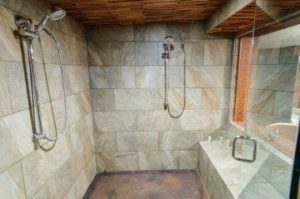 Steam room with shower