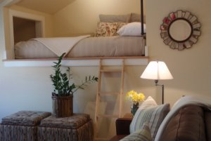 view of loft bed